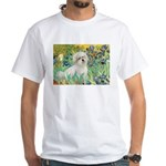 Irises / Coton White T-Shirt