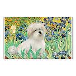 Irises / Coton Sticker (Rectangle)