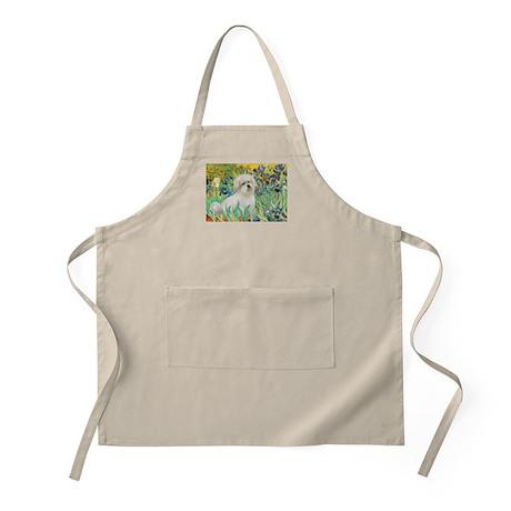 Irises / Coton Apron