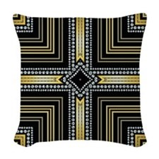 Art Deco Cross Woven Throw Pillow