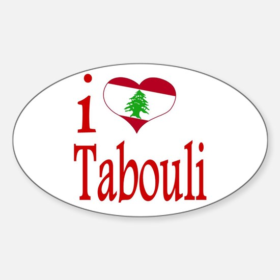 I Love Tabouli Tabuli Oval Decal