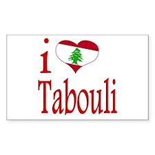 I Love Tabouli Tabuli Rectangle Decal