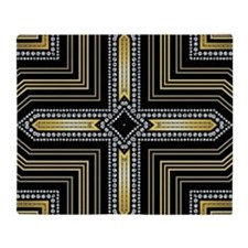 Art Deco Cross Throw Blanket