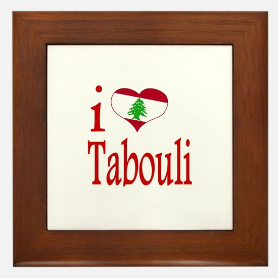 I Love Tabouli Tabuli Framed Tile