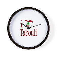 I Love Tabouli Tabuli Wall Clock