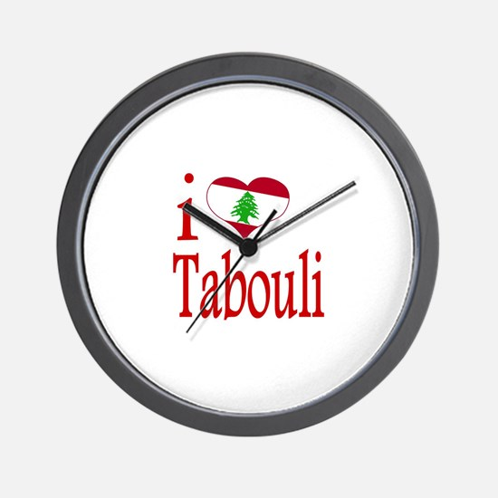 I Love Tabouli Tabuli Wall Clock