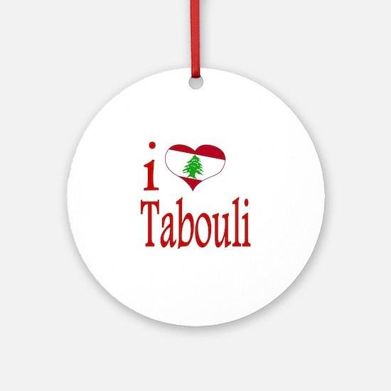 I Love Tabouli Tabuli Ornament (Round)