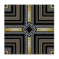 Art Deco Cross Tile Coaster