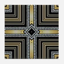 Art Deco Cross Tile Coaster