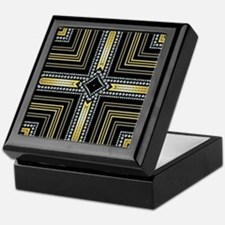 Art Deco Cross Keepsake Box
