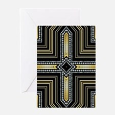 Art Deco Cross Greeting Cards