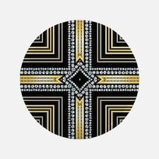 """Art Deco Cross 3.5"""" Button"""