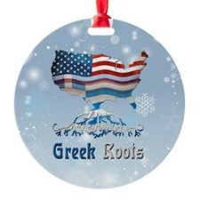 Greek American Roots Christmas Ornament