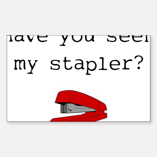 office-space-(stapler)-white- Bumper Stickers