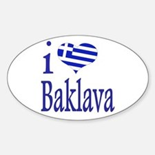 I Love Baklava Oval Decal