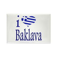 I Love Baklava Rectangle Magnet