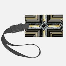 Art Deco Cross Luggage Tag