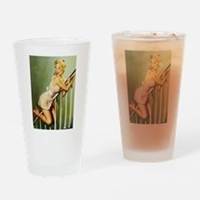Funny Classy pinup Drinking Glass