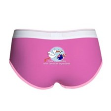 stork baby austr can white.psd Women's Boy Brief