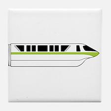 Monorail Green Tile Coaster