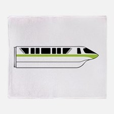 Monorail Green Throw Blanket