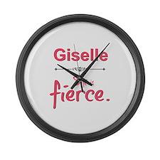 Giselle is fierce Large Wall Clock