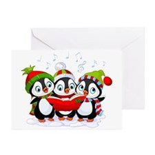 Caroling Christmas Penguins (pk Of Greeting Cards