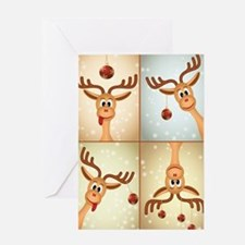 Silly Reindeer Card Greeting Cards