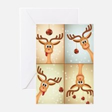 Silly Reindeer Greeting Cards (pk Of 10)