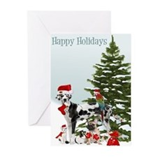Santa Pet Christmas Greeting Cards (pk Of 10)