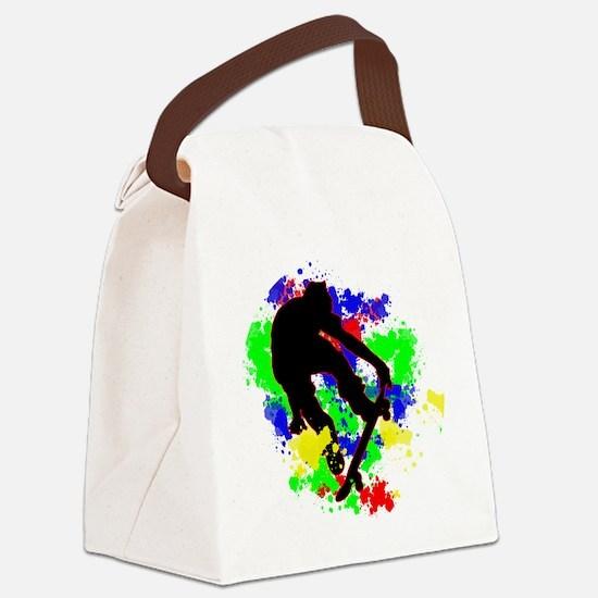 Graffiti Paint Splotches Skateboa Canvas Lunch Bag