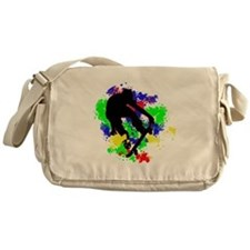 Graffiti Paint Splotches Skateboarde Messenger Bag