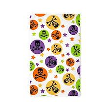 Halloween Skulls and Polka Dots 3'x5' Area Rug