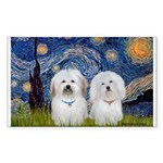 Starry / Coton Pair Sticker (Rectangle)