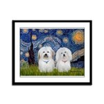 Starry / Coton Pair Framed Panel Print