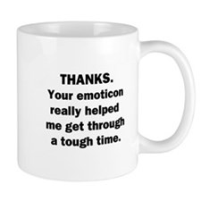 Thanks for the Emoticon Mug