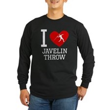 I Heart Javelin Throw Long Sleeve T-Shirt