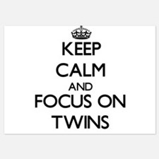 Keep Calm by focusing on Twins Invitations