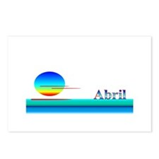 Abril Postcards (Package of 8)