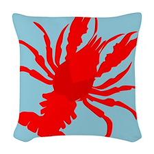 Crayfish Woven Throw Pillow