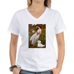Windflowers / Coton Women's V-Neck T-Shirt