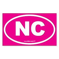 North Carolina NC Euro Oval Stickers