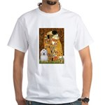 The Kiss / Coton White T-Shirt