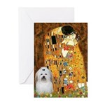 The Kiss / Coton Greeting Cards (Pk of 10)