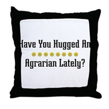 Hugged Agrarian Throw Pillow