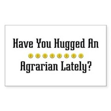 Hugged Agrarian Rectangle Decal