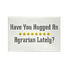 Hugged Agrarian Rectangle Magnet