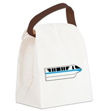 Monorail Blue Canvas Lunch Bag