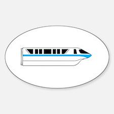 Monorail Blue Sticker (Oval)