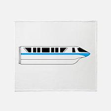 Monorail Blue Throw Blanket